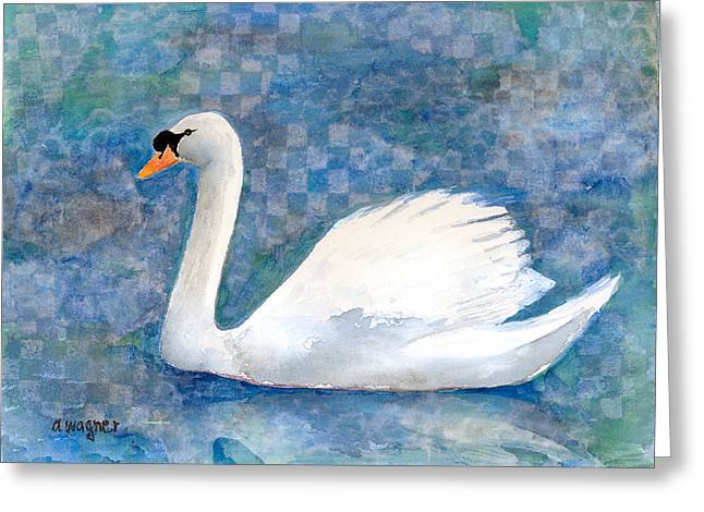 Mute Swan Greeting Card by Arline Wagner
