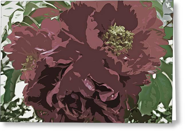 Subtle Colors Greeting Cards - Muted Tone Flowers Abstract Greeting Card by Adri Turner