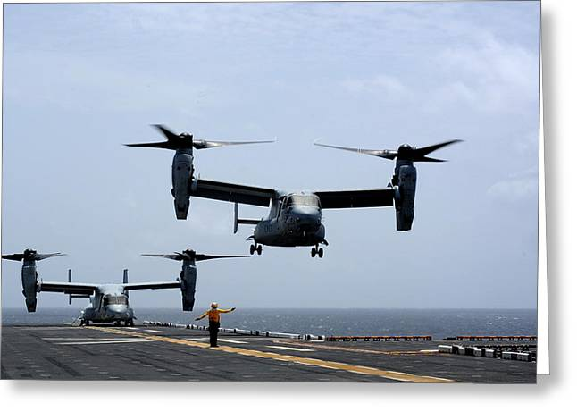 Mv-22 Osprey Aircrafts Us Navy Greeting Card by Celestial Images