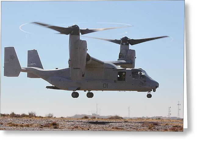 Division Greeting Cards - MV-22B Osprey tilt-rotor aircraft  Greeting Card by Celestial Images