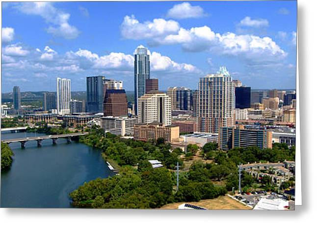 James R Granberry Greeting Cards - My Austin Skyline Greeting Card by James Granberry