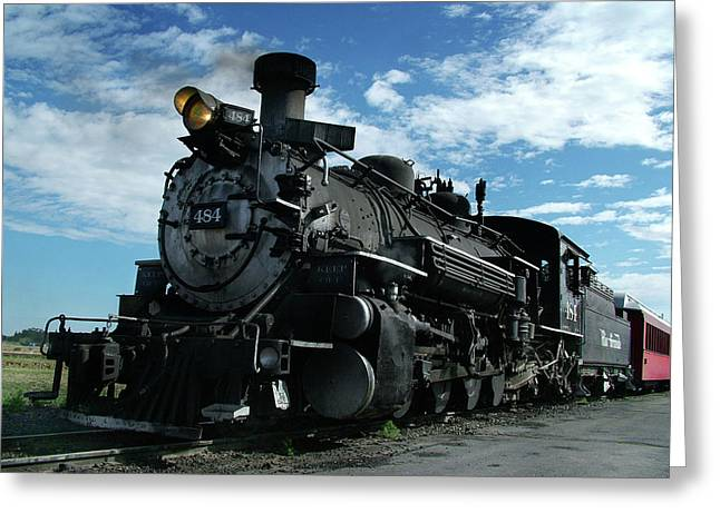 Narrow Gauge Steam Engine Greeting Cards - My Best Side Greeting Card by Ken Smith