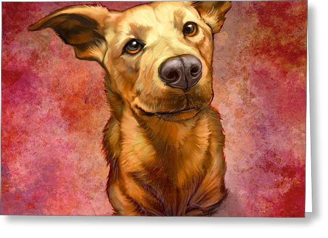 Dog Portraits Greeting Cards - My Buddy Greeting Card by Sean ODaniels