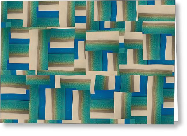 My Coastal Colors Harmony Wave Greeting Card by Betsy Knapp