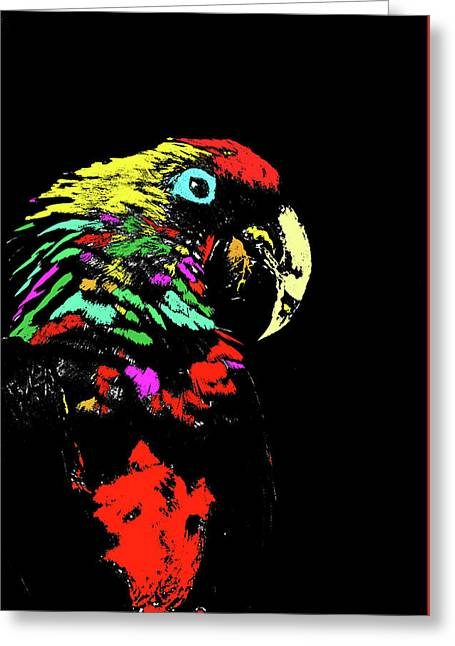 Mccaw Greeting Cards - My Colorful McCaw Greeting Card by Howard Bagley