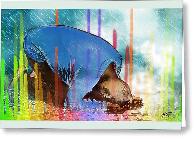 My Colorful Worship Greeting Card by Jennifer Page