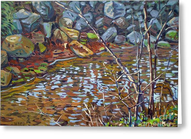 Creek Paintings Greeting Cards - My Creek Greeting Card by Donald Maier