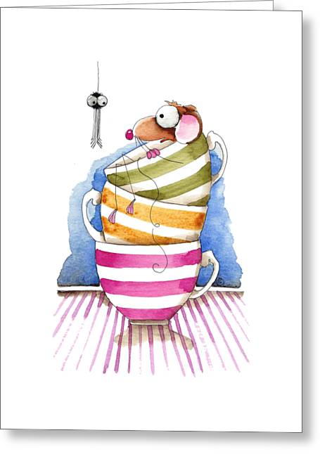 Pen Greeting Cards - My cup of tea Greeting Card by Lucia Stewart