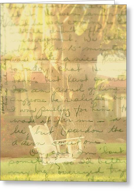 Love Letter Greeting Cards - My Dear John Greeting Card by Susanne Van Hulst