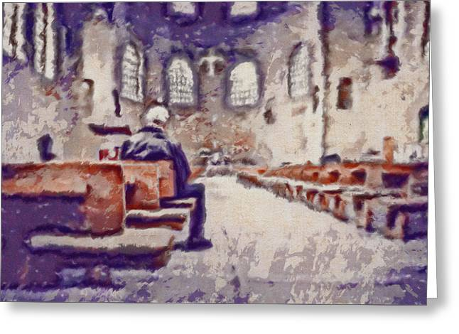 Photo Art Gallery Greeting Cards - My Deepest Condolences Greeting Card by Mario Carini