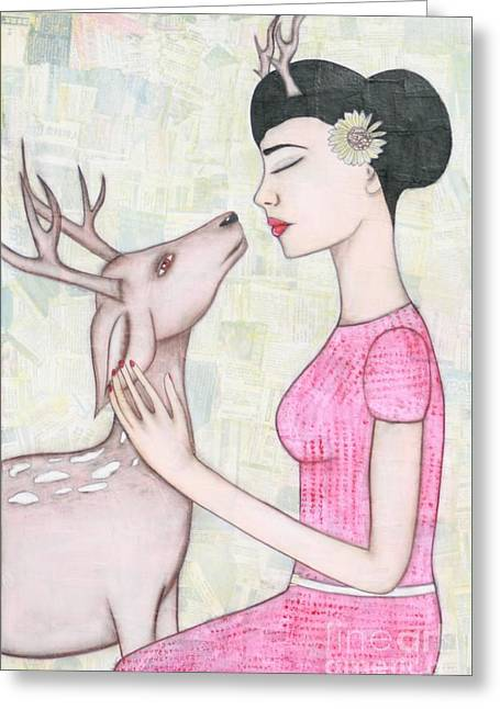 My Deer Greeting Card by Natalie Briney