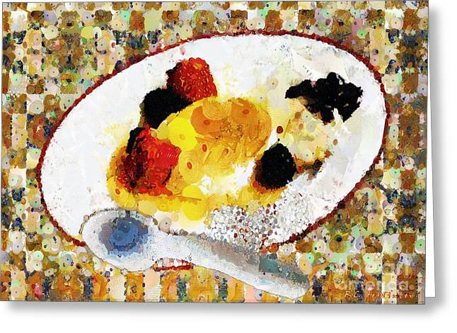 Brulee Greeting Cards - My Dinner with Gustav Greeting Card by RC DeWinter