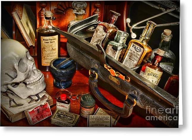 Md Greeting Cards - My Doctors Desk Greeting Card by Paul Ward