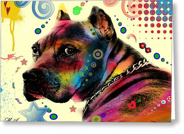 Dogs Abstract Greeting Cards - My Dog Greeting Card by Mark Ashkenazi