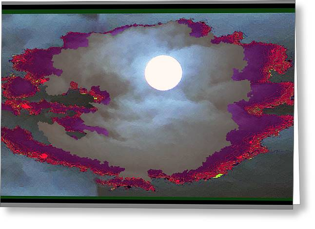 Moonshine Mixed Media Greeting Cards - My dream moon moonshine sky Greeting Card by Navin Joshi