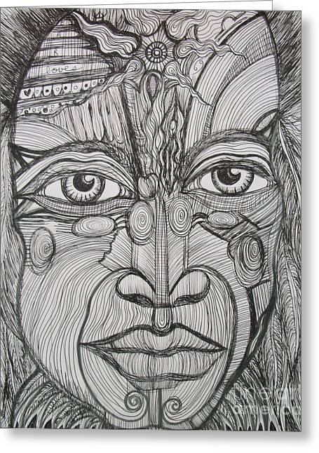 Sarasota Artist Drawings Greeting Cards - My Eyes Speak the Truth Greeting Card by Anita Wexler