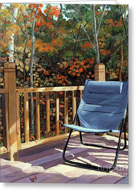 Crisp Greeting Cards - My Favorite Spot Greeting Card by Lynne Reichhart