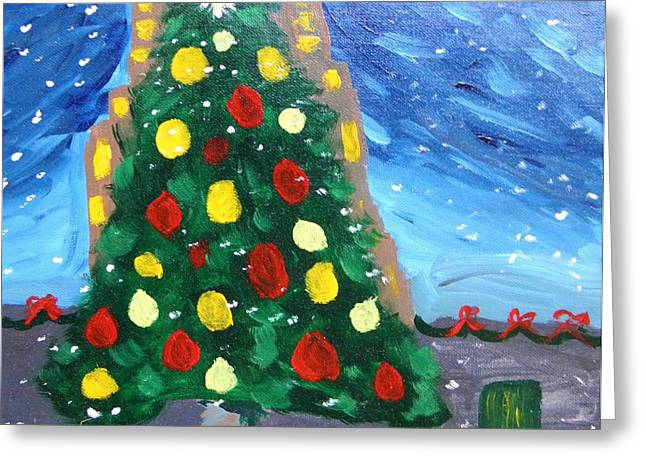 Mcw Greeting Cards - My Favorite Tree Greeting Card by Mary Carol Williams