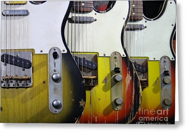 Fender Esquire Greeting Cards - My Fender Telecaster Greeting Card by MyChicC