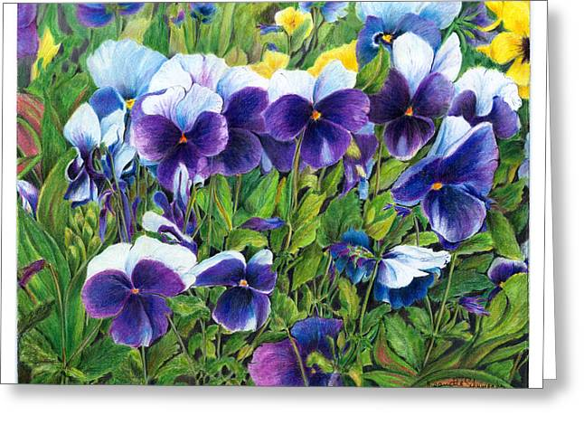 My Field Of Flowers Greeting Card by Jeanette Schumacher