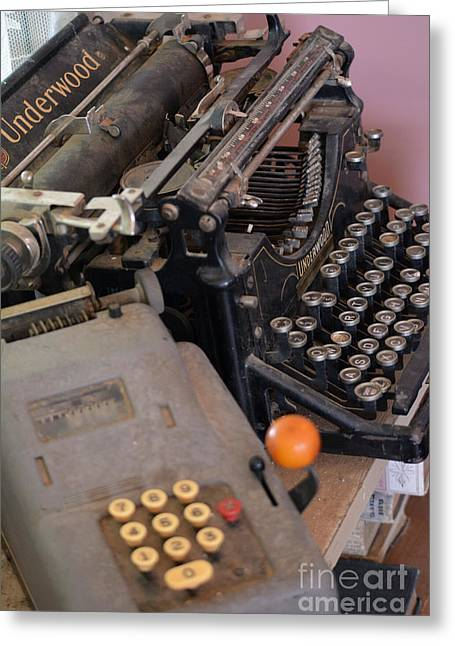 Typewriter Tapestries - Textiles Greeting Cards - My First Greeting Card by Edna Weber