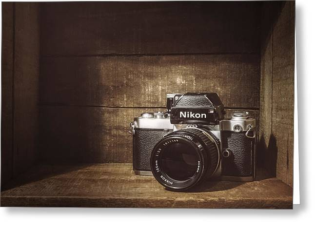My First Nikon Camera Greeting Card by Scott Norris