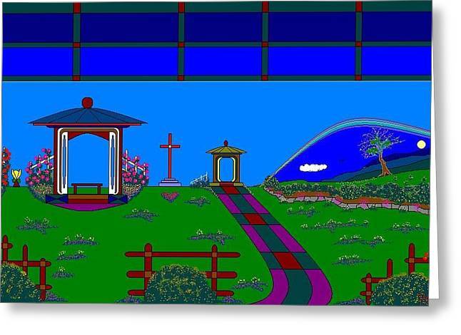 Etc. Paintings Greeting Cards - My Garden. Greeting Card by Richard Magin