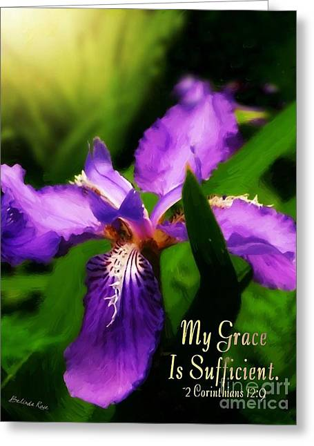 Bible Greeting Cards - My Grace Is Sufficient Greeting Card by Belinda Rose