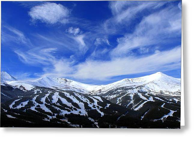 My Heart Lies In The Mountains Greeting Card by Fiona Kennard