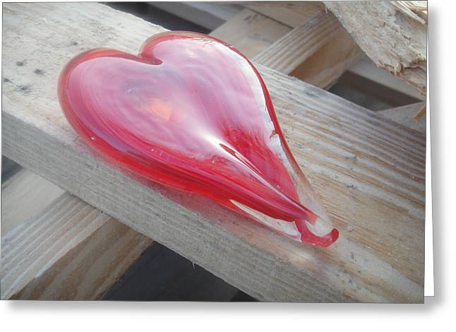 My Hearts On A Pile Of Wood Greeting Card by WaLdEmAr BoRrErO