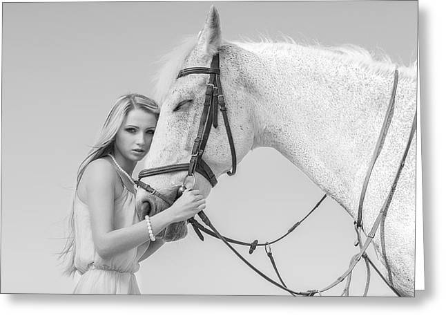 Women Greeting Cards - My Horse Greeting Card by Igor N.