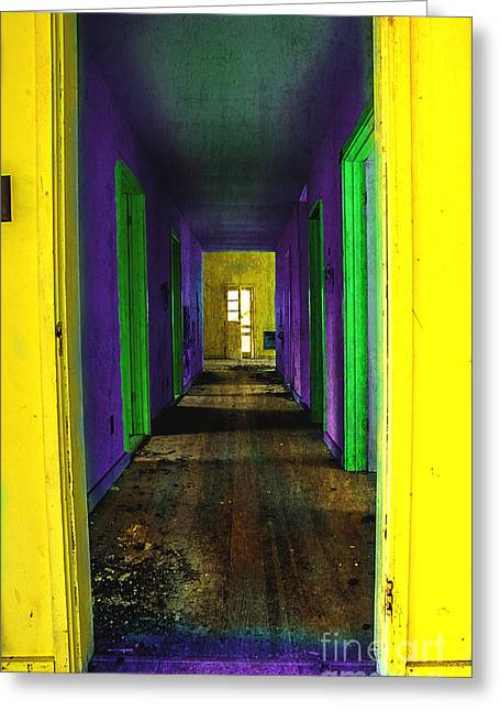 Abandoned Homes Greeting Cards - My Illusion Lies Just Beyond Greeting Card by Michael Eingle