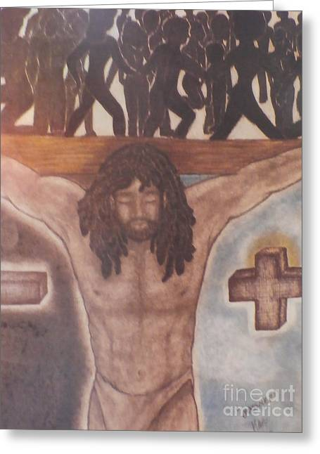 First Love Drawings Greeting Cards - My Jesus Greeting Card by Celestial  Inspirations