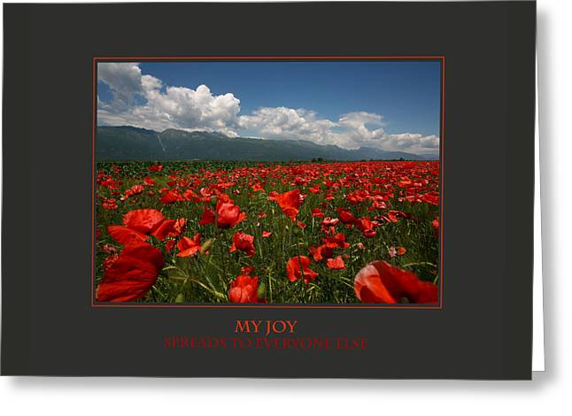 My Joy Spreads To Everyone Else Greeting Card by Donna Corless