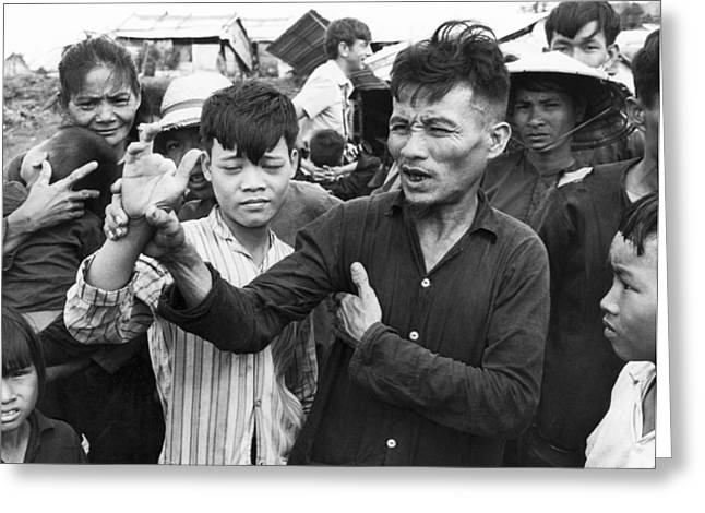 My Lai Massacre Victims Greeting Card by Underwood Archives