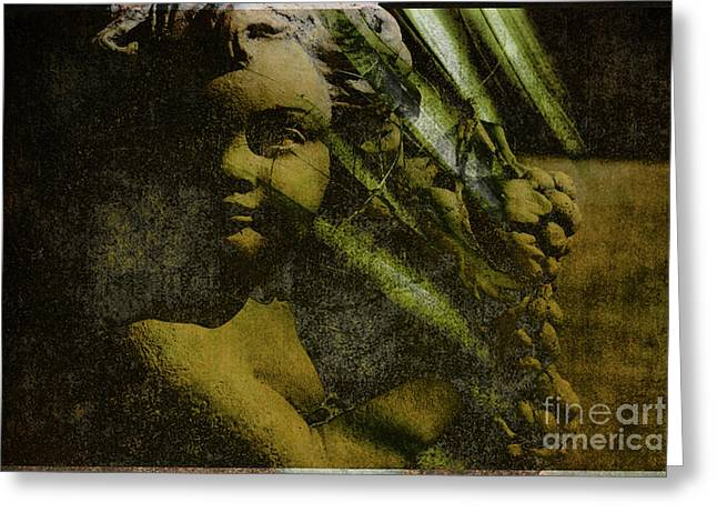 Statue Portrait Greeting Cards - My Little Angel Greeting Card by Susanne Van Hulst