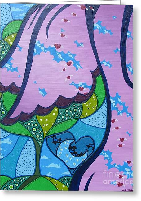 Dan Keough Greeting Cards - My Little Hippie Greeting Card by Dan Keough