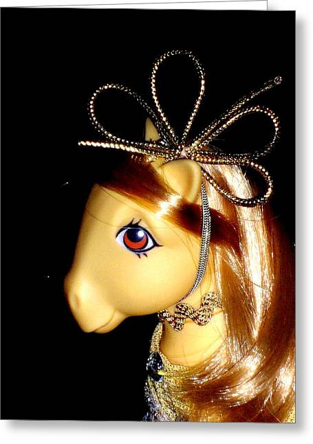 My Little Pony Butterscotch  Shiny Pose Greeting Card by Donatella Muggianu