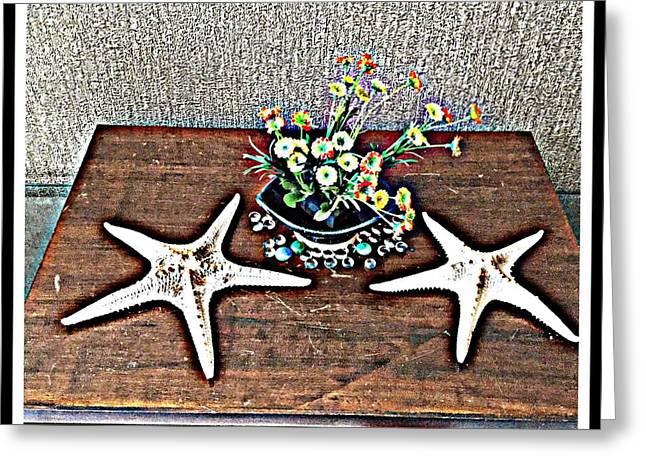 My Lucky Stars Greeting Card by Jagjeet Kaur
