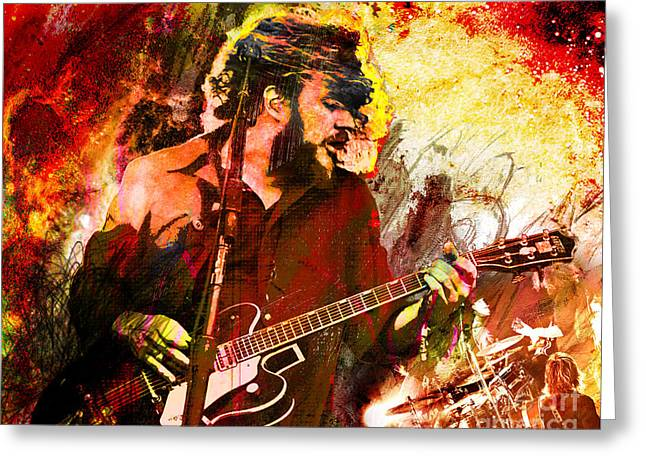 Alternative Home Decor Greeting Cards - My Morning Jacket Art  Greeting Card by Ryan RockChromatic