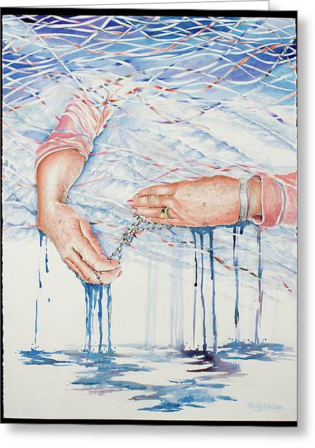 Sorrow Greeting Cards - My Mothers Hands Greeting Card by Carolyn Coffey Wallace