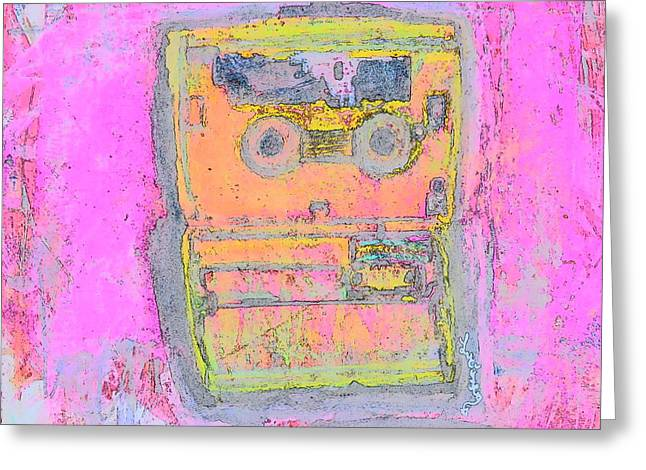 Walkman Greeting Cards - My Music Greeting Card by Luci Ferguson