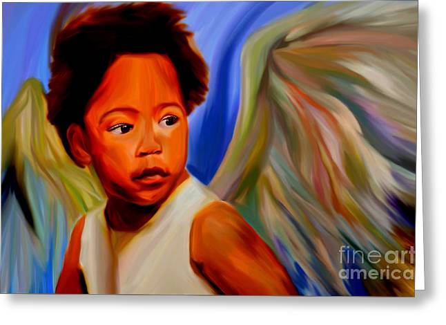 My Name Is Angel Of Life Greeting Card by Felix Von Altersheim
