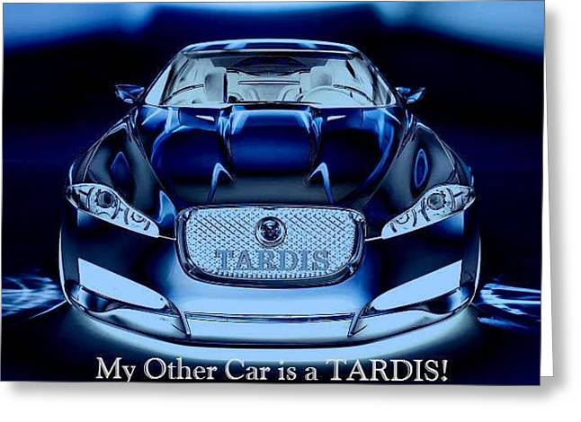 Doctor Who Greeting Cards - My Other Car Greeting Card by Digital Art Cafe