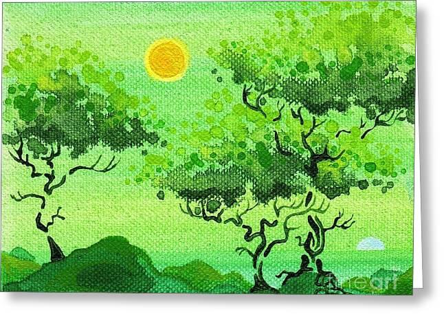 Dan Keough Greeting Cards - My Painting Greeting Card by Dan Keough