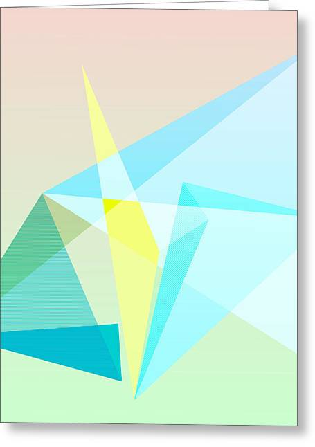 Geometric Shape Greeting Cards - My Prism Greeting Card by TheseRmyDesigns