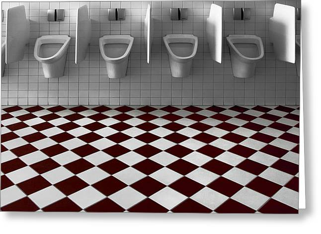 Toilet Greeting Cards - My Private Toilet... Greeting Card by Gilbert Claes