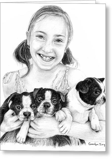 Mike Ivey Greeting Cards - My Puppies Greeting Card by Mike Ivey