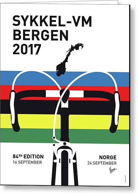 My Road World Championships Minimal Poster 2017 Greeting Card by Chungkong Art