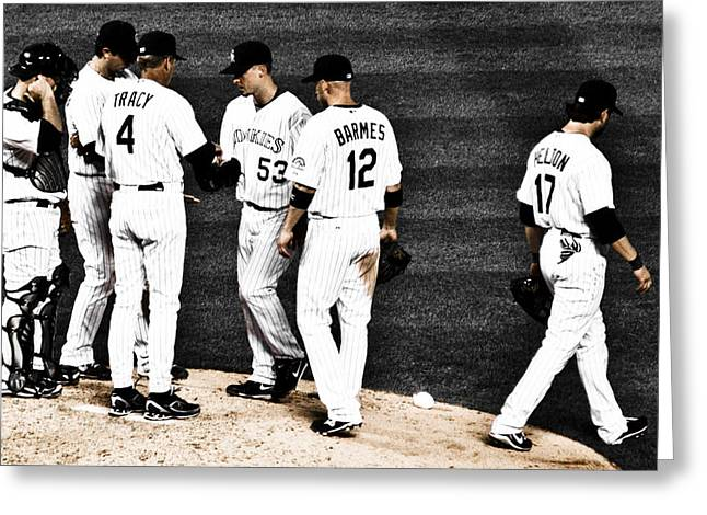 Todd Helton Greeting Cards - My Rock Collection - Colorado Rockies Greeting Card by Marilyn Hunt
